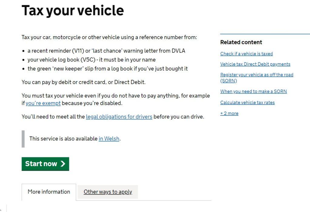 Tax Vehicle